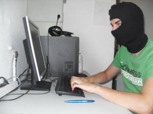 Hacker bei seiner Arbeit